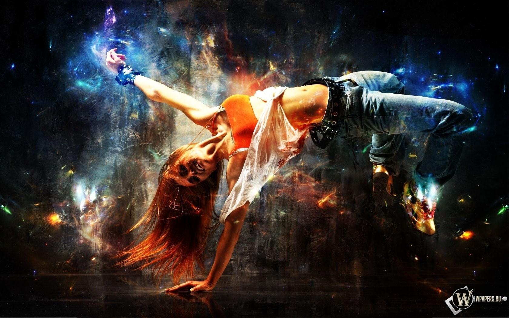Абстракция танца 1680x1050