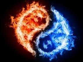 Обои Инь и Янь: Вода, Огонь, Добро, Зло, Равновесие, Рендеринг