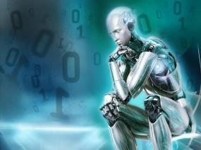 Обои Робот мечтатель: Цифры, Робот, Рендеринг