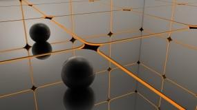 Обои черные шары: Отражение, Шары, Поверхность, Рендеринг