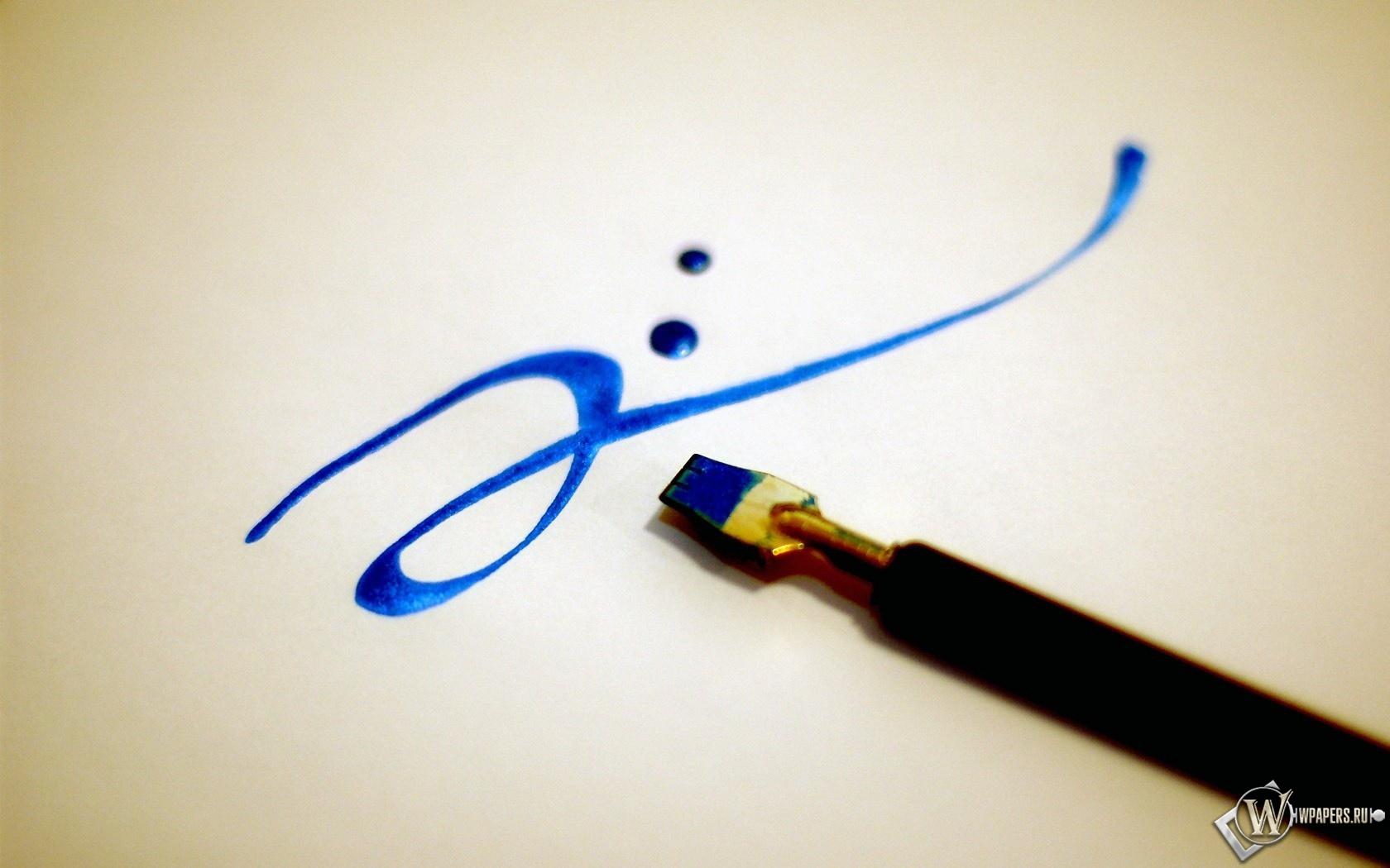 Синяя кисточка 1680x1050