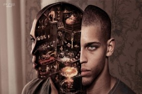 Обои Внутренний мир мужчины: Голова, Мужчина, Разрез, Рендеринг