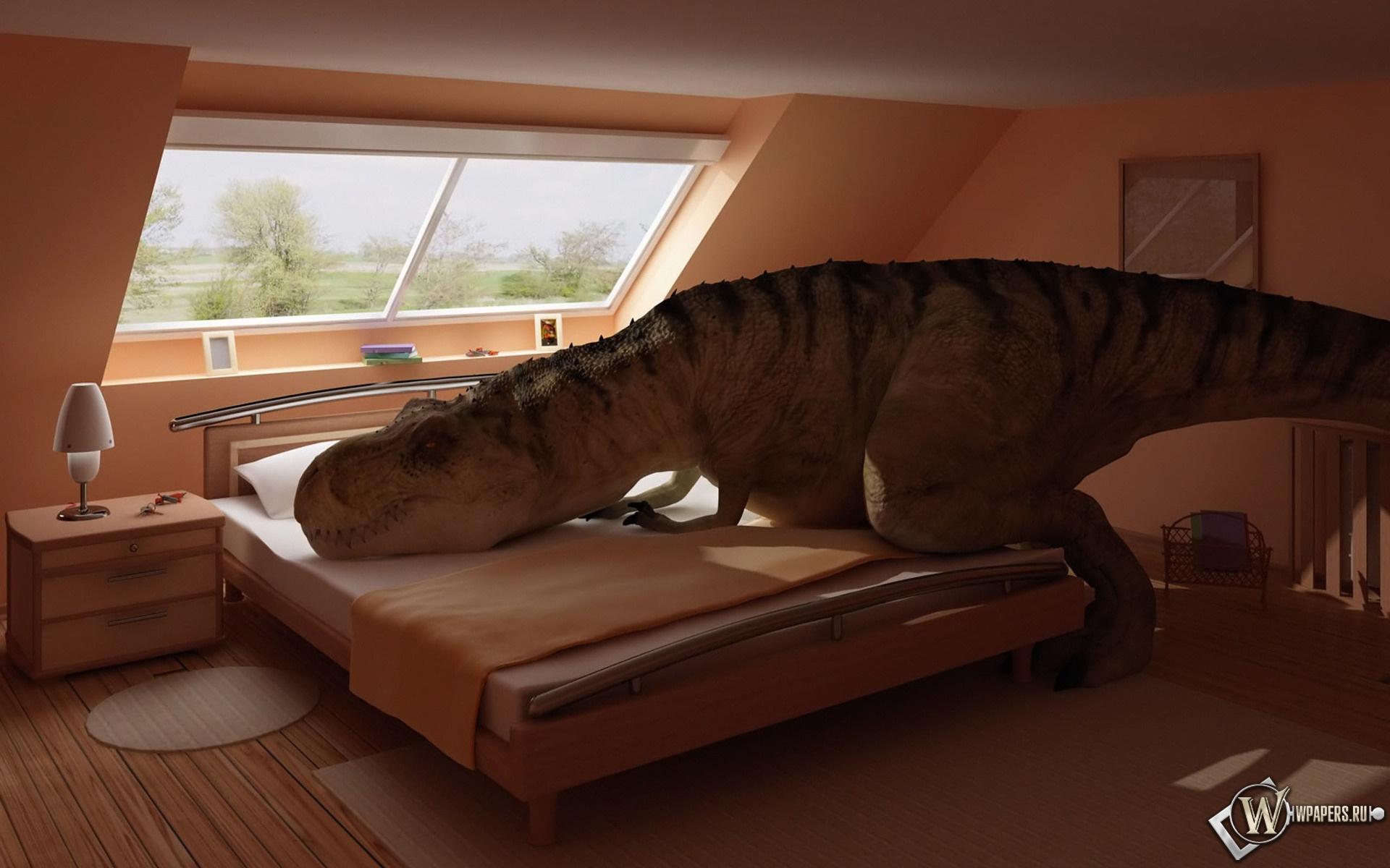 Динозавр отдыхает 1920x1200