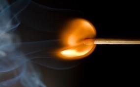 Обои Пылающая спичка: Огонь, Пламя, Спичка, Рендеринг