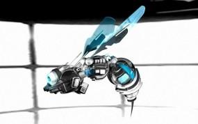 Обои Оса-робот: Полёт, Робот, Оса, Рендеринг