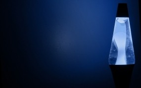 Обои Ночник: Ночь, Синий, Лампа, Рендеринг