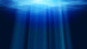 Обои Под водой: Вода, Океан, Глубина, Лучи, Рендеринг