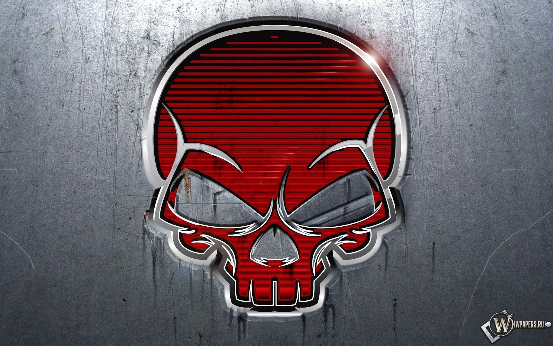 Красный череп 1920x1200