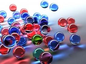 Обои Цветные шарики: Стекло, Шарики, Рендеринг, Цвет, Рендеринг