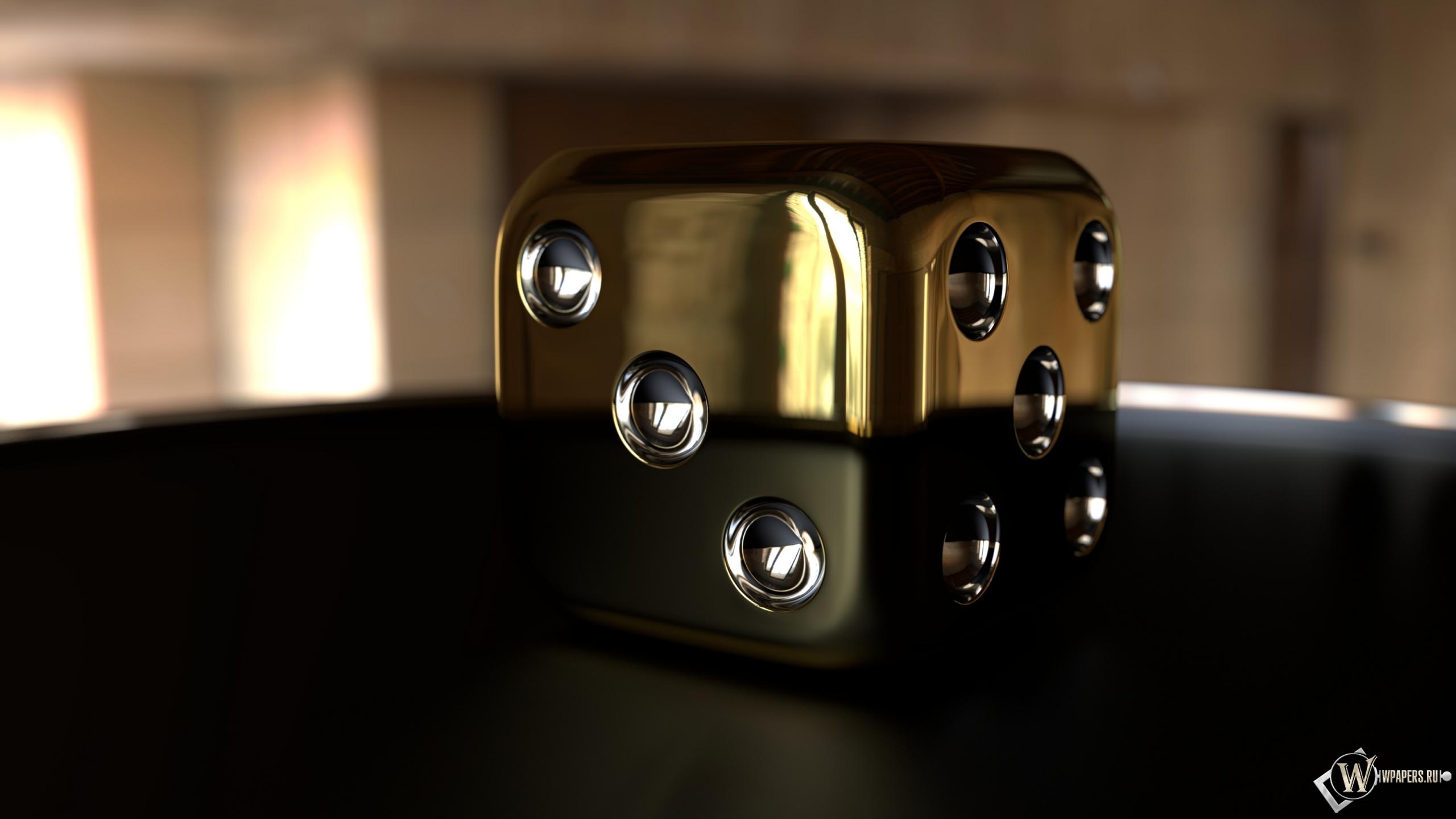 Золотой куб 2560x1440