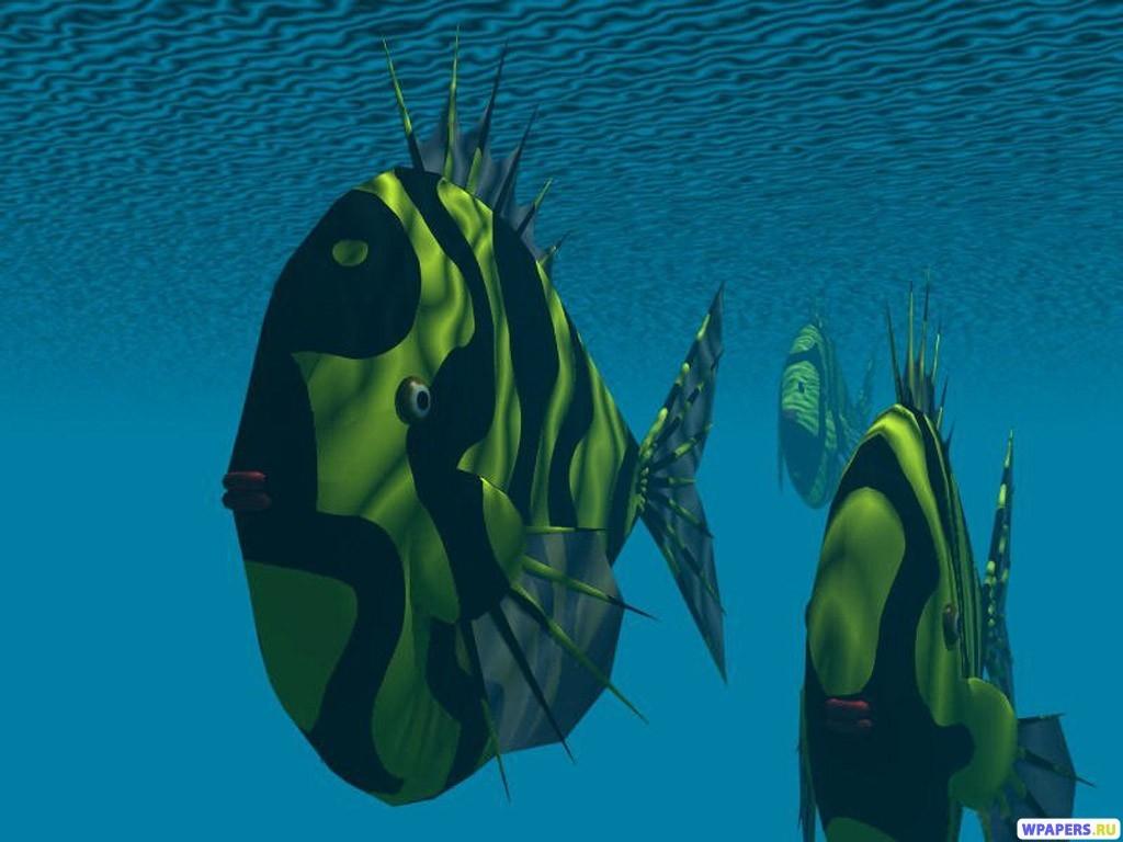 3D Рыбки 1024x768