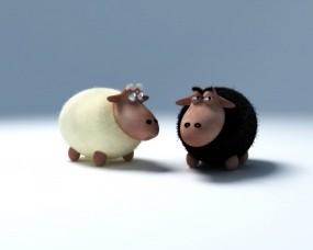Обои 3D Овечки: Овца, Баран, Овечки, Рендеринг