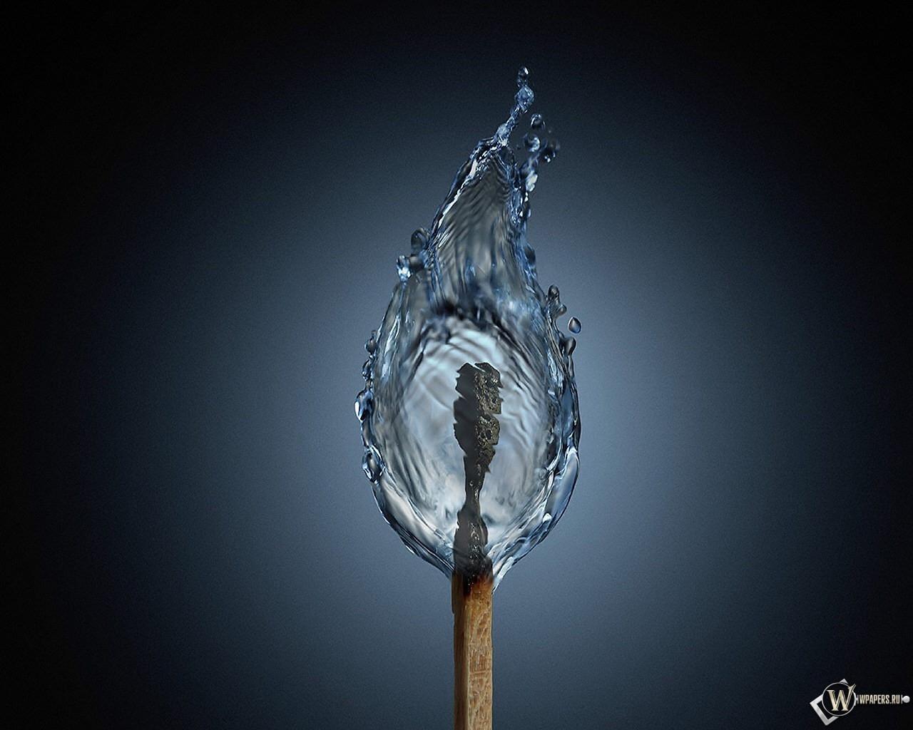 Вода из спички 1280x1024