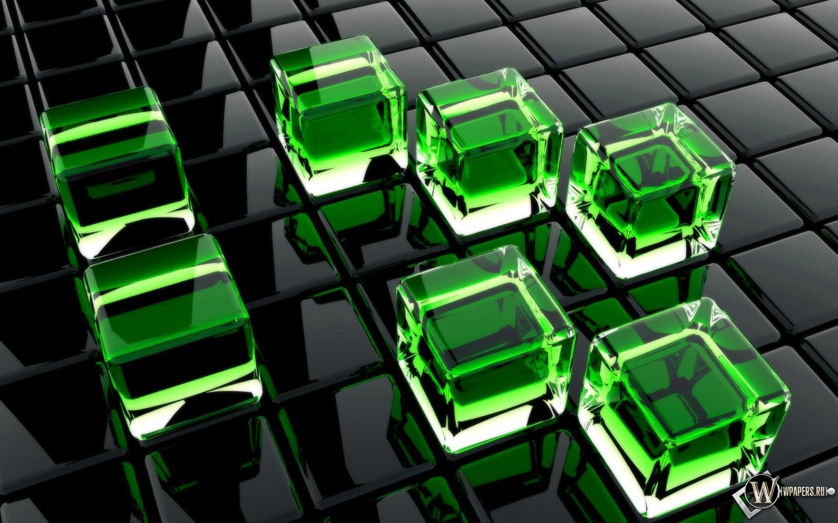 Стеклянные кубы 1680x1050