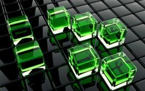 Обои Стеклянные кубы: Стекло, Кубики, Кубы, Рендеринг