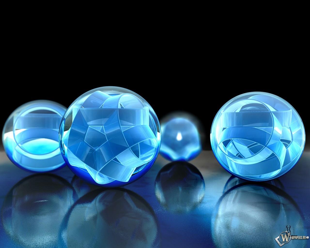 Объемные шары 1280x1024