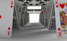 Обои Карточный домик: Игра, Домик, Карты, Рендеринг