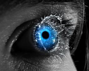 Обои Голубой глаз: Глаз, Синий, Всплеск, Рендеринг
