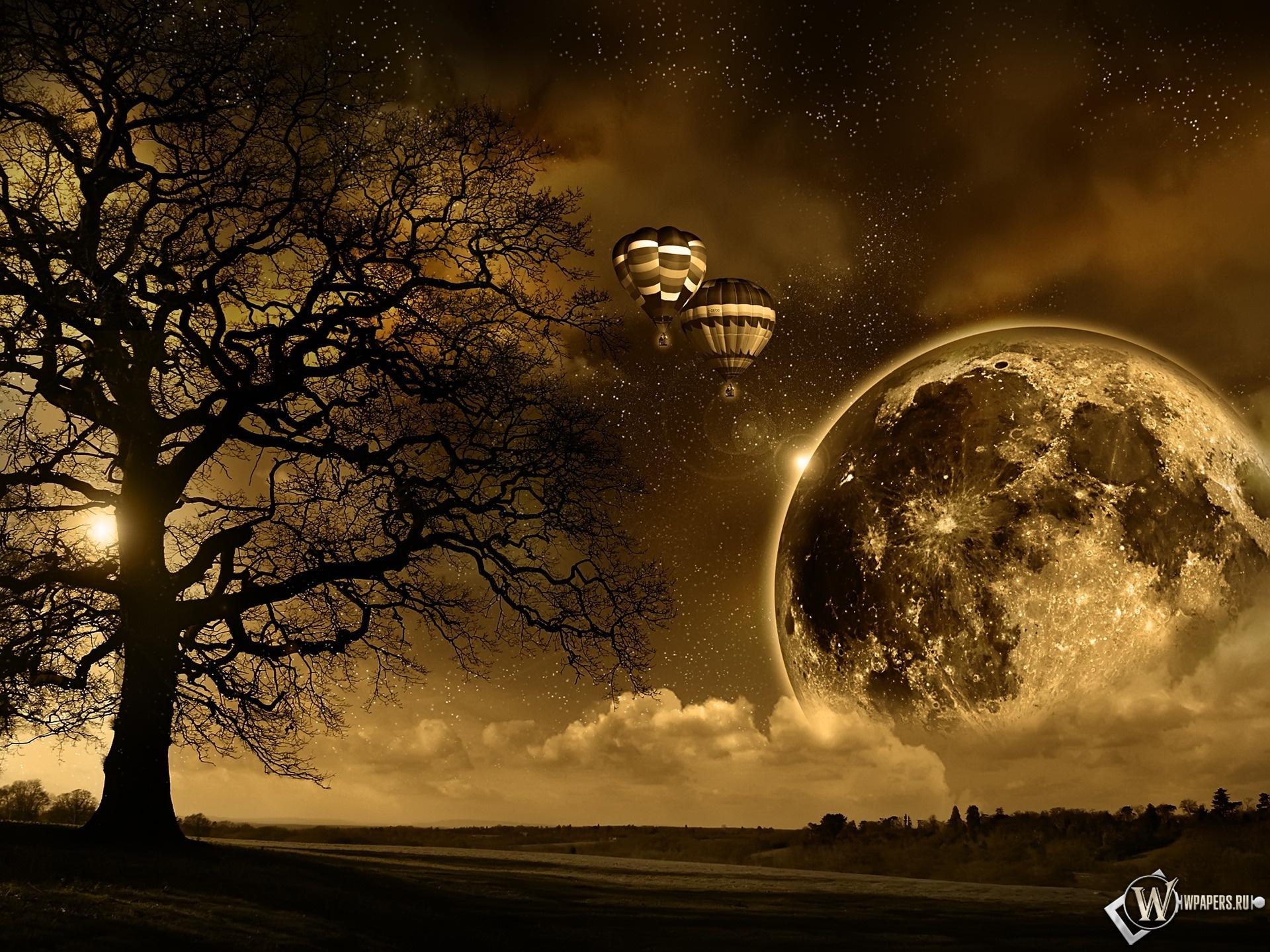 Магическая луна 1920x1440