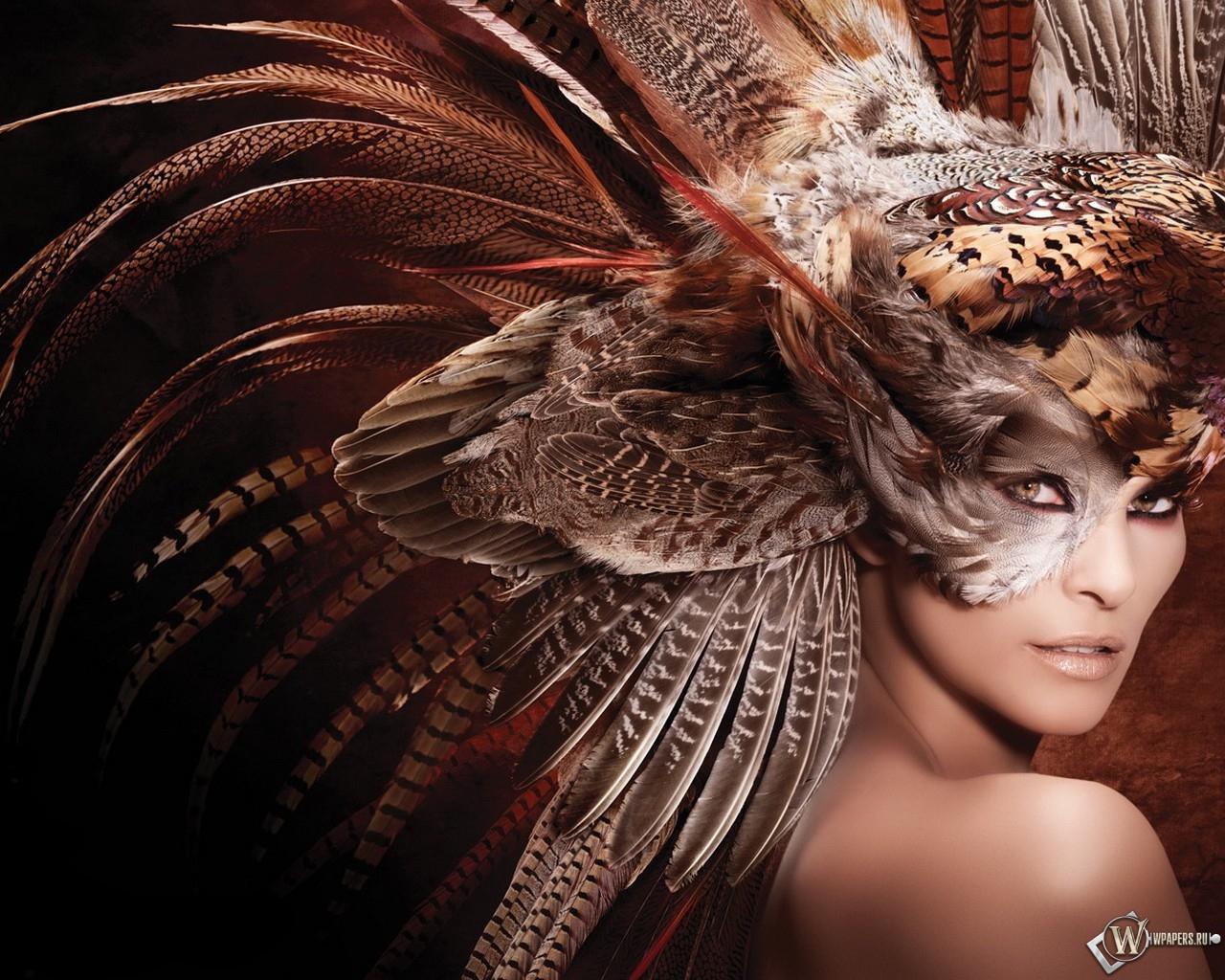 Девушка - сова 1280x1024
