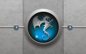 Обои Знак дракона: 3D, Знак, Дракон, Рендеринг