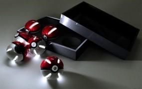 Обои Коробка с покеболами: Шарики, Коробка, Рендеринг