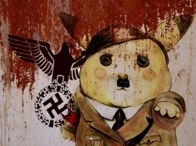 Обои Покимон адольфик: Фашизм, Пикачу, Адольф, Идиотизм, Разное