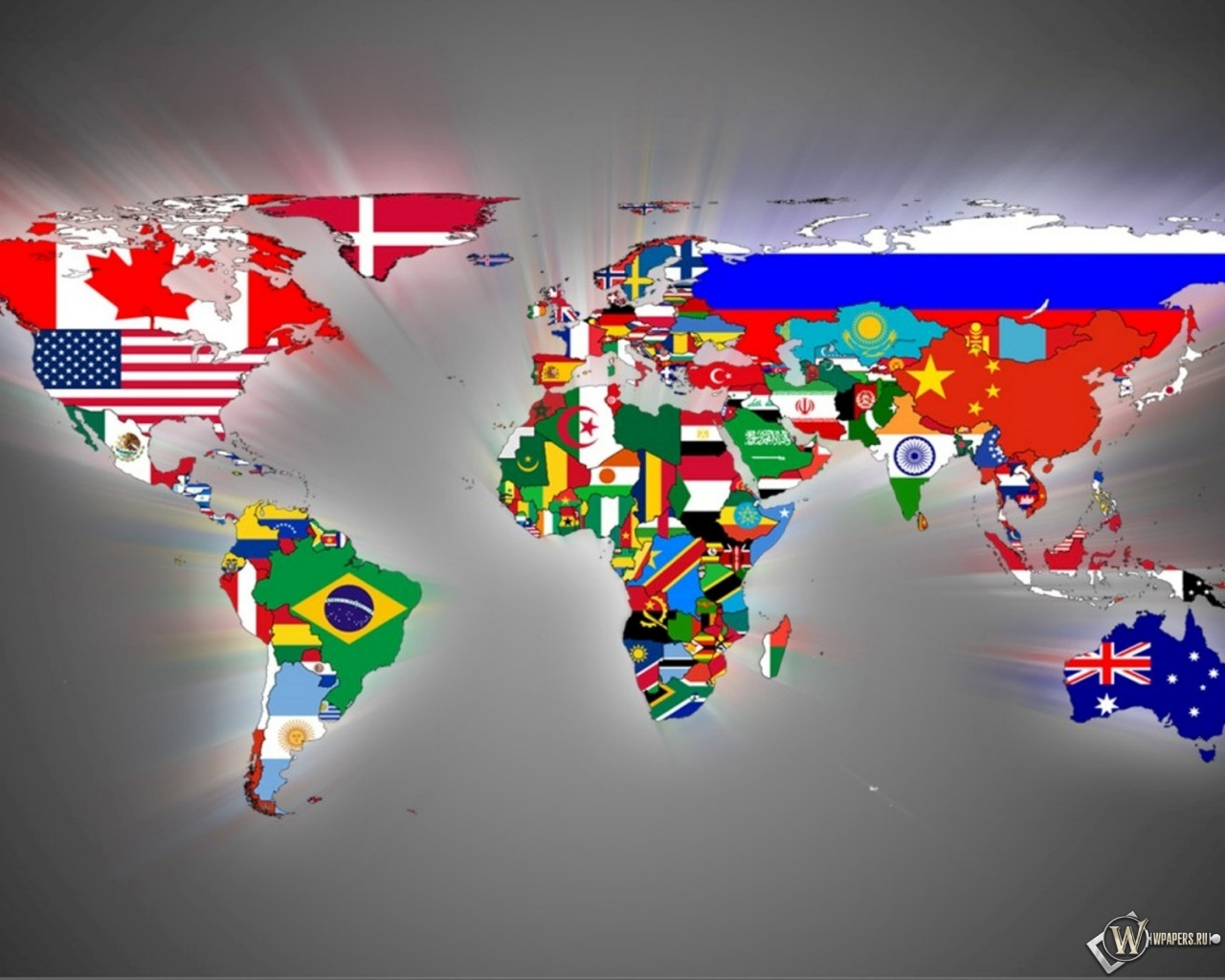 Карта мира 1280x1024
