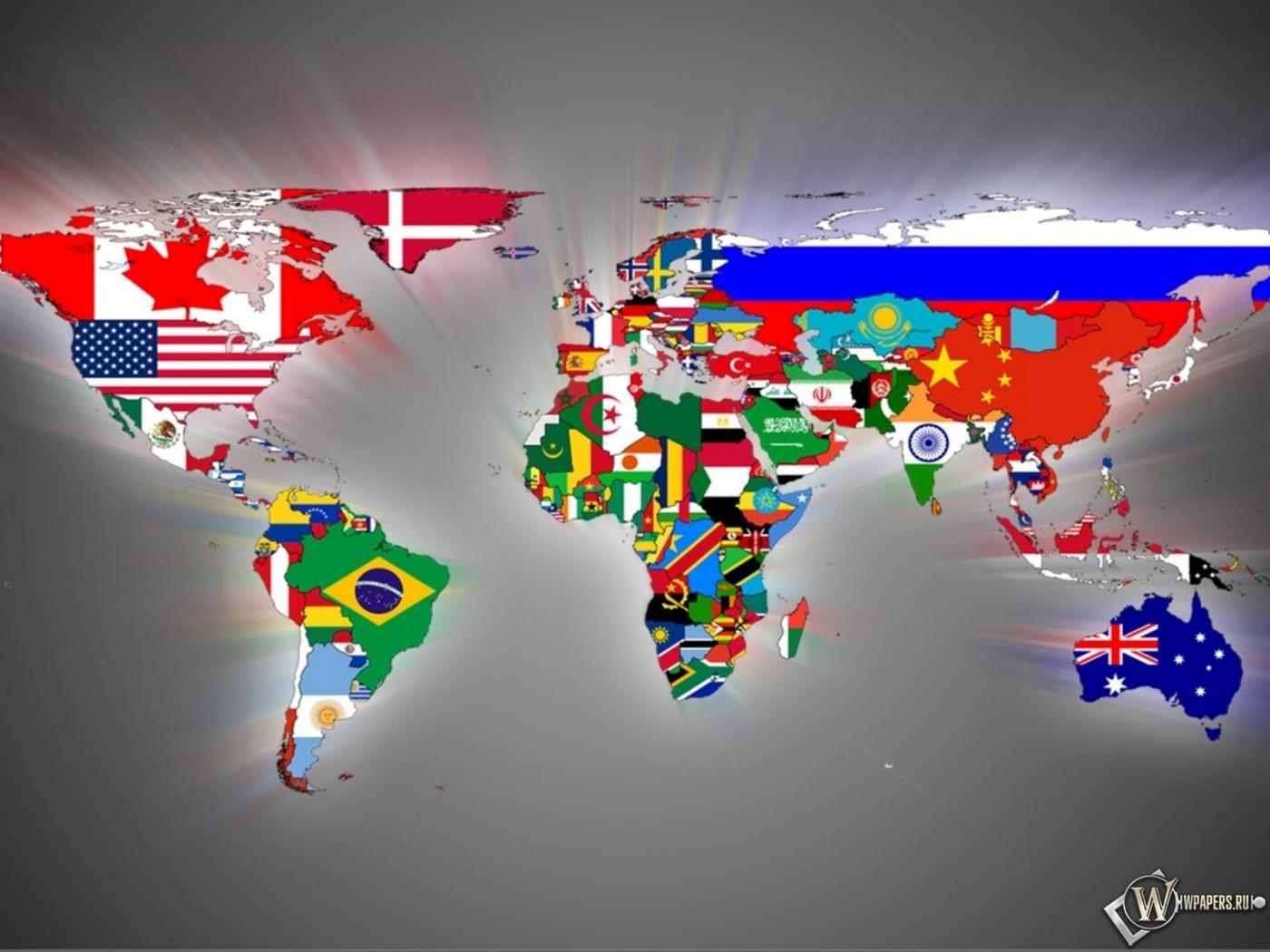 Карта мира 1400x1050