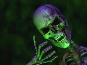 Обои Веселый скелет: Череп, Скелет, Вампир, Веселье, Разное