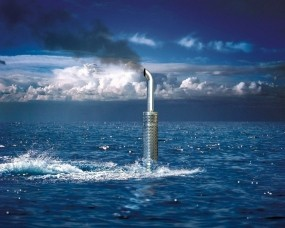Выхлопная труба подводной лодки