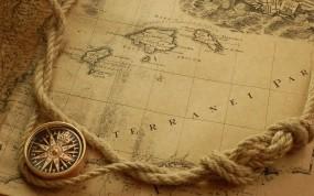 Обои Карта и компас: Карта, Компас, Разное