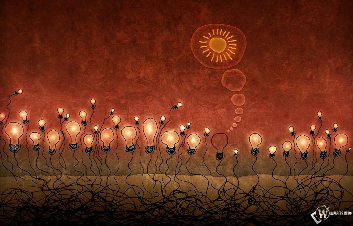Красные лампочки 1200x768