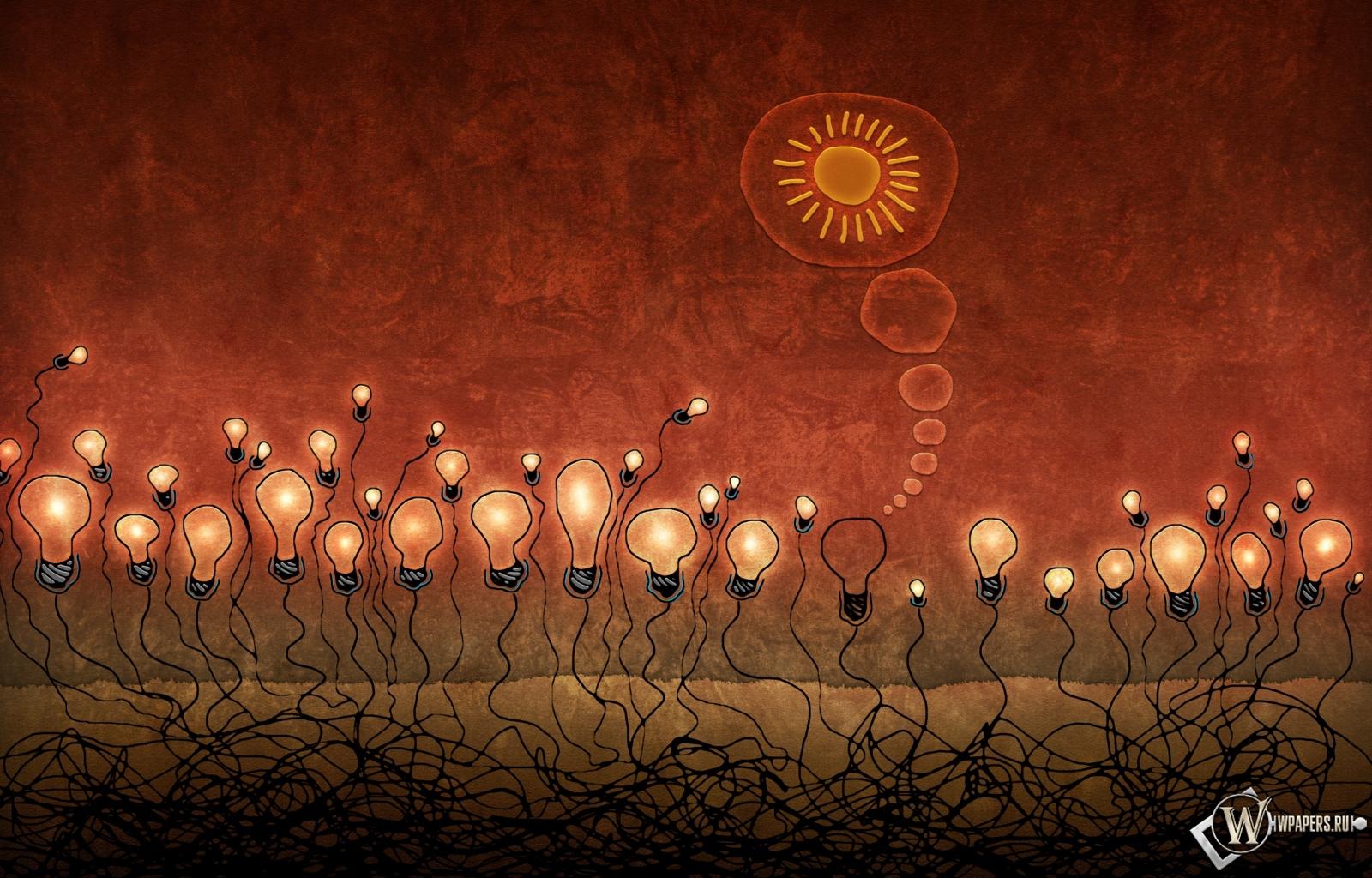 Красные лампочки 1600x1024