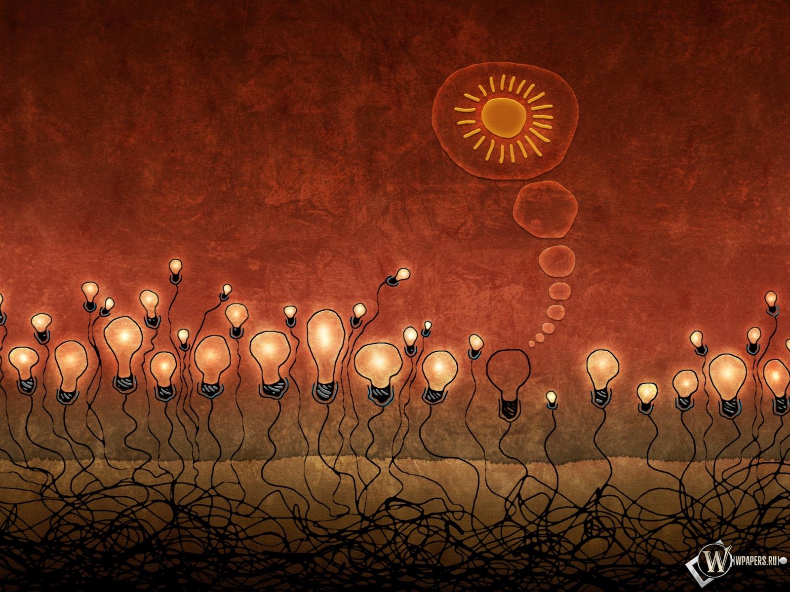 Красные лампочки 1600x1200