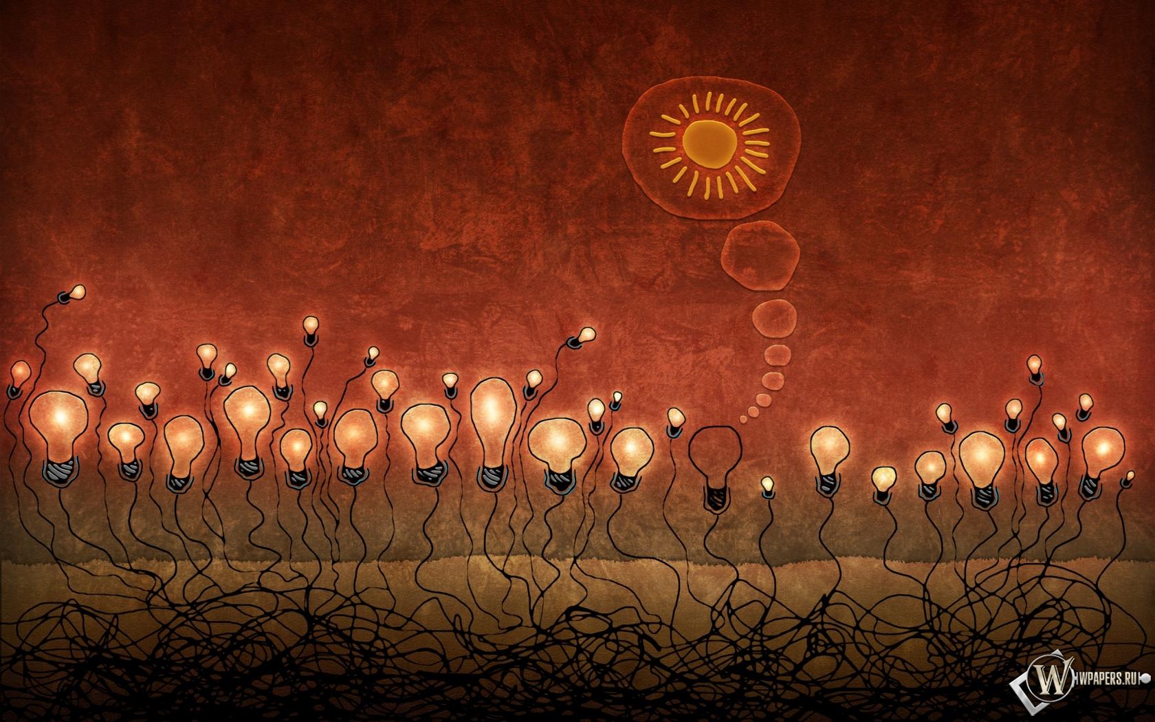 Красные лампочки 1680x1050