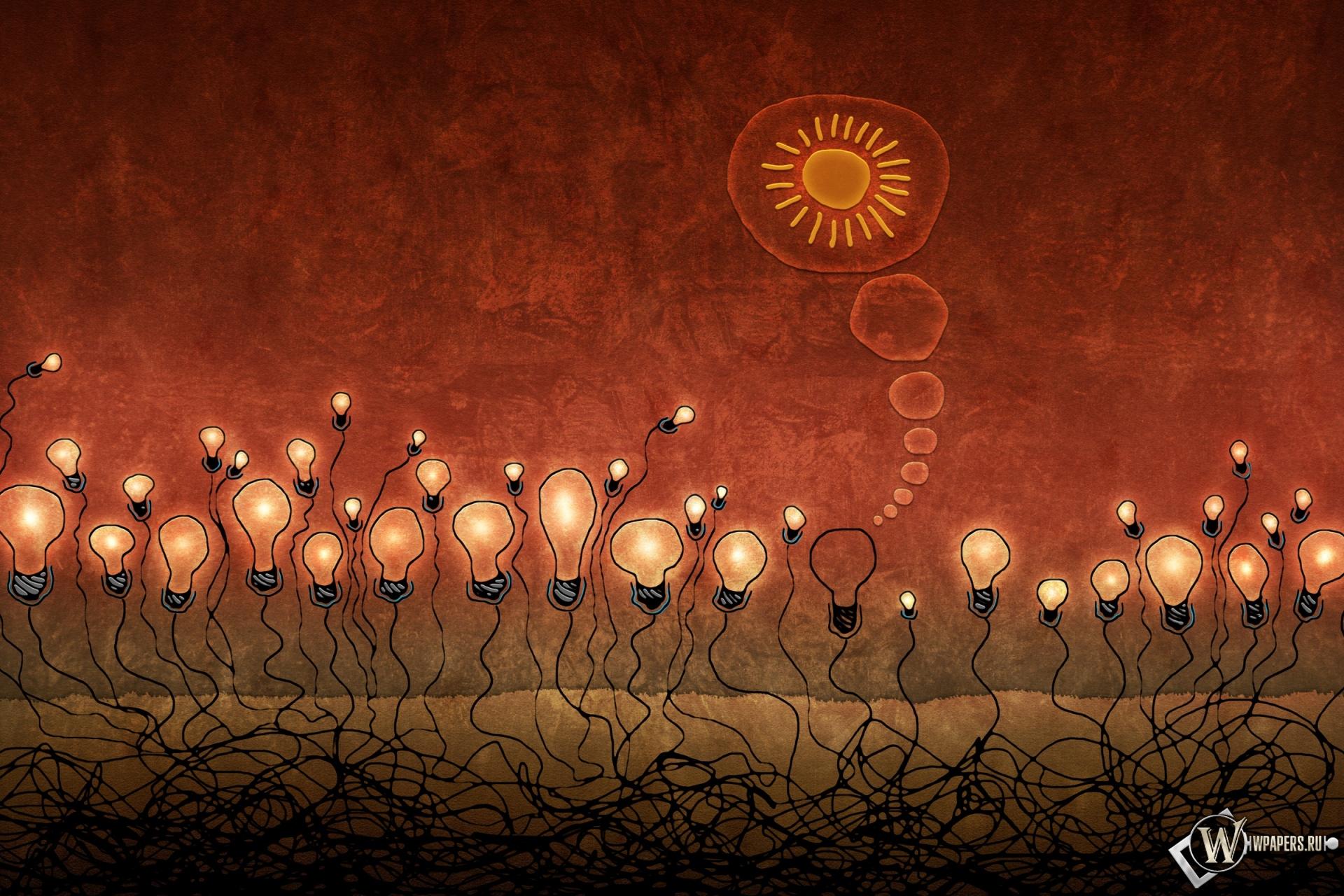 Красные лампочки 1920x1280
