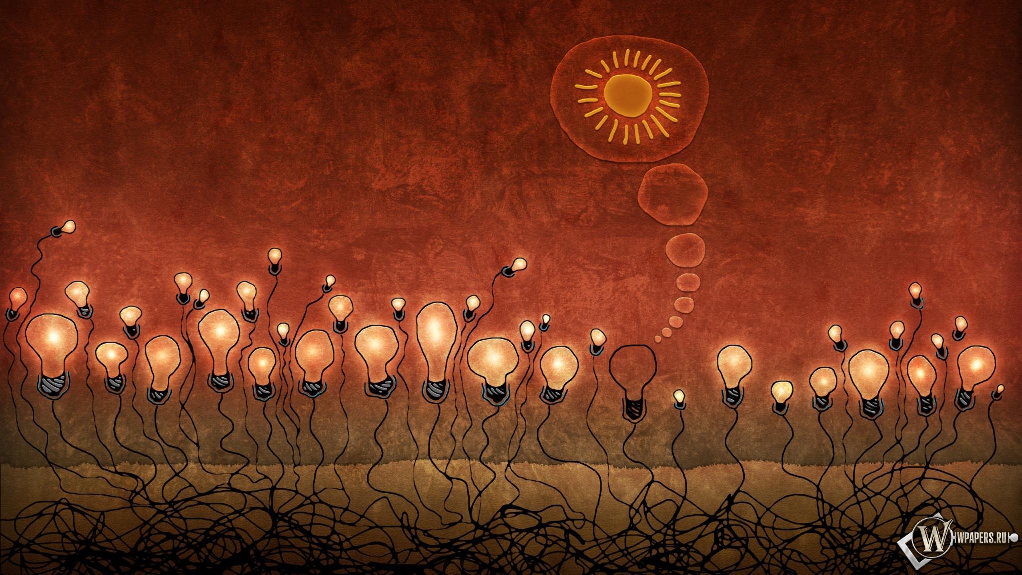 Красные лампочки 2048x1152
