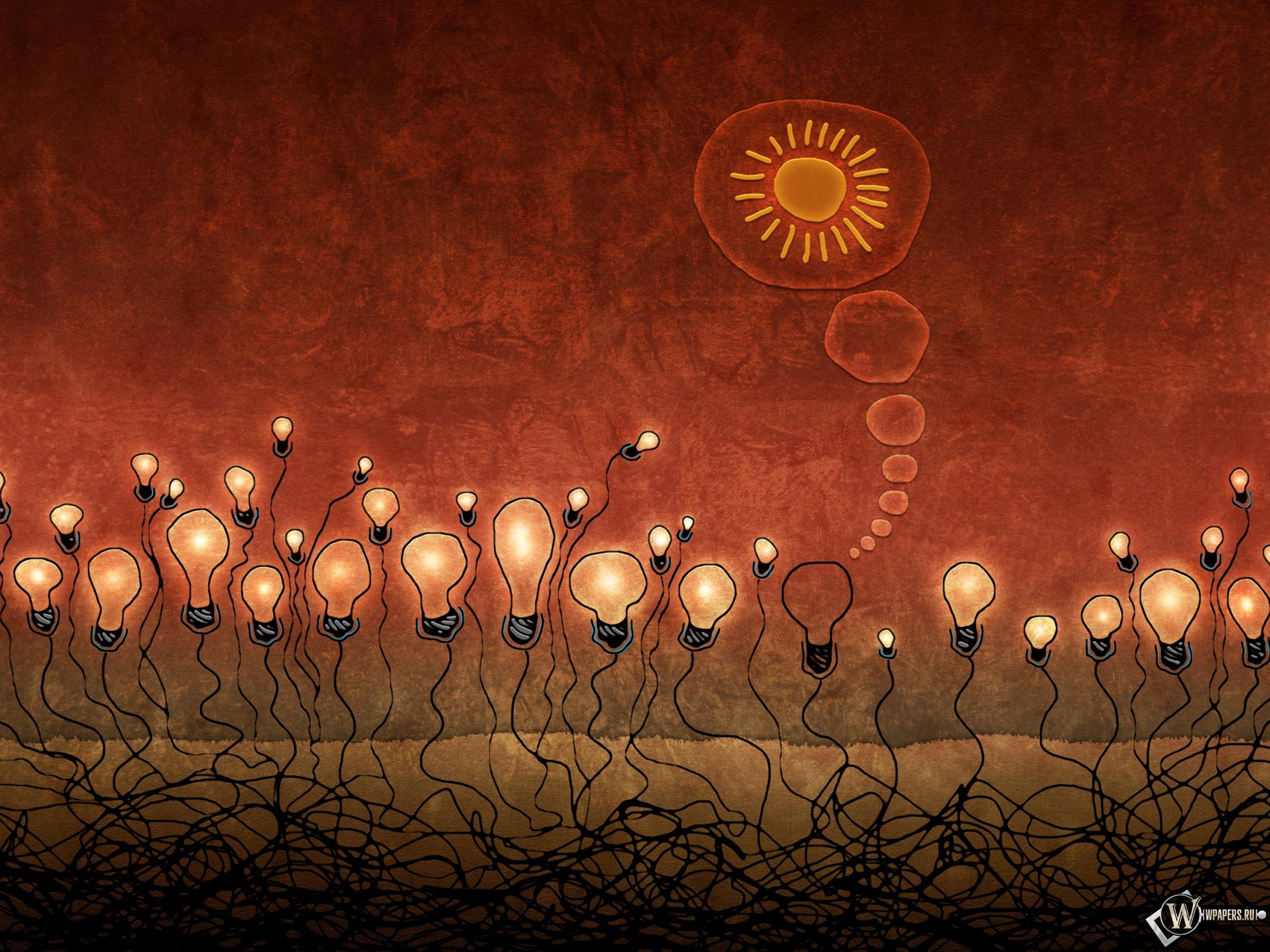 Красные лампочки 2560x1920