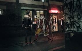 Обои Крестовый валет: Неон, Ночь, Улица, Карты, Разное