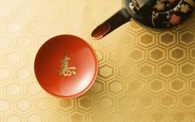 Обои Японское чаепитие: Иероглиф, Япония, Чашка, Разное