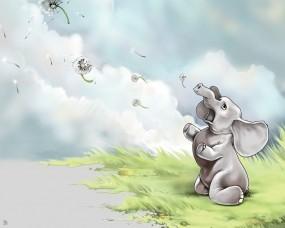Слон с одуванчиками