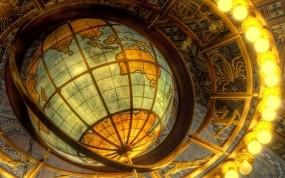 Обои Глобус и знаки зодиака: Глобус, знаки зодиака, Разное
