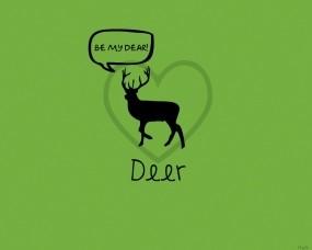 Обои Игра слов: Олень, Слово, Зеленое, Разное
