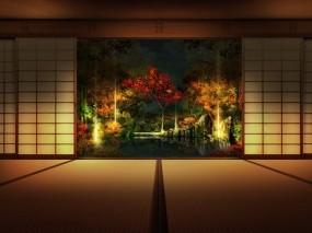 Обои Японская комната: Стена, Картина, Япония, Разное