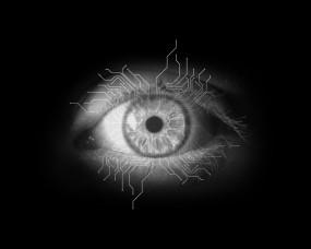 Обои Глаз и микросхемы: Глаз, Минимализм, Микросхема, Разное