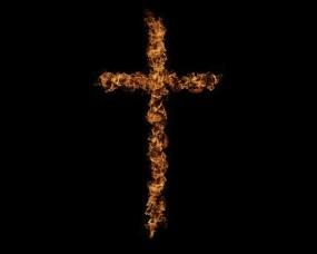 Обои Огненный крест: Огонь, Крест, Разное