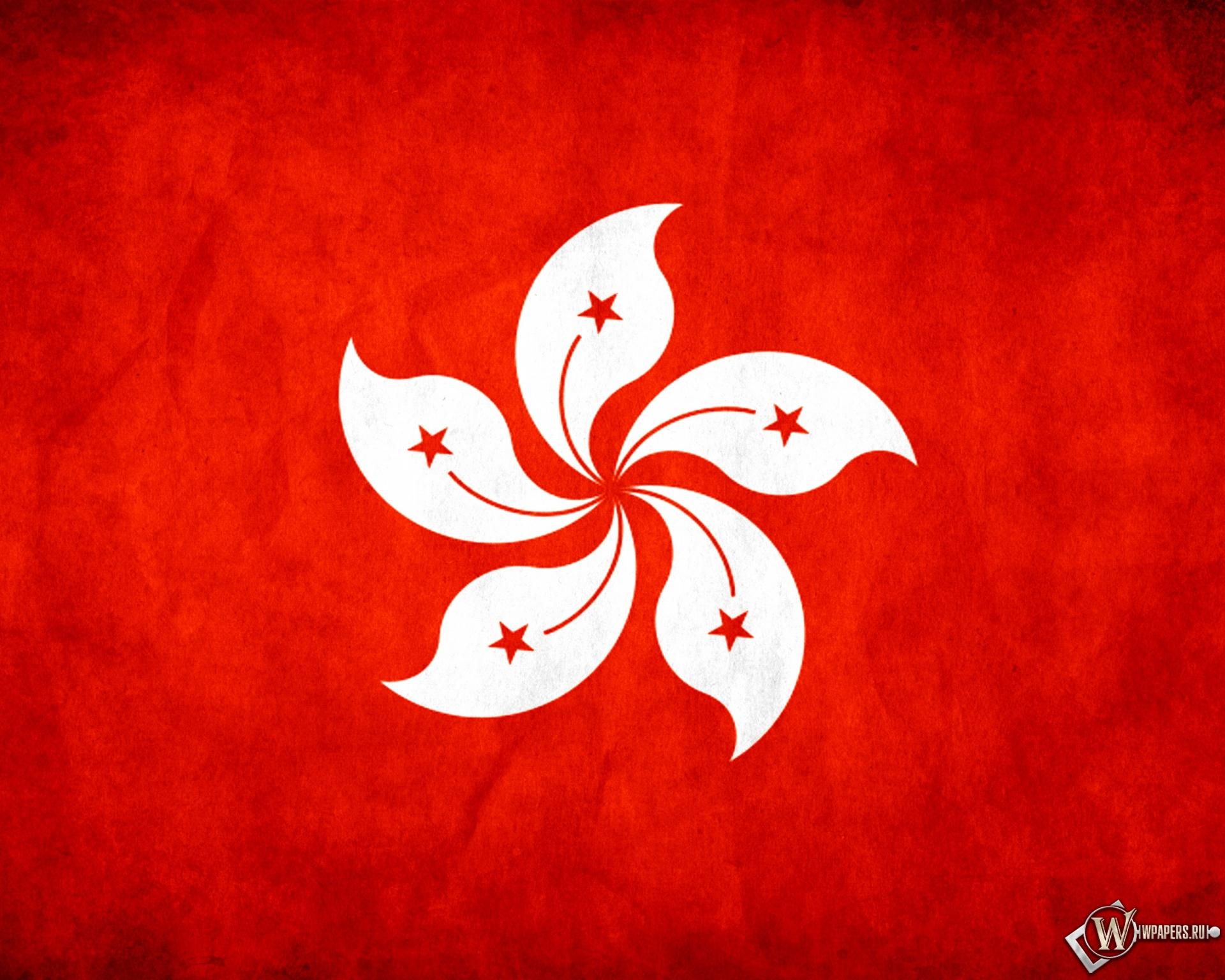 Флаг Гонконга 1920x1536