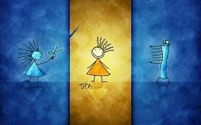 Обои Имиджмейкеры: Синий, Желтый, Девочки, Оранжевый, Разное