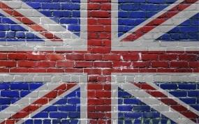 Обои Флаг Великобритании на стене: Стена, Великобритания, Кирпич, Флаг, Разное